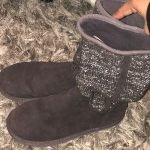 Ugg camaya boots grey sparkle